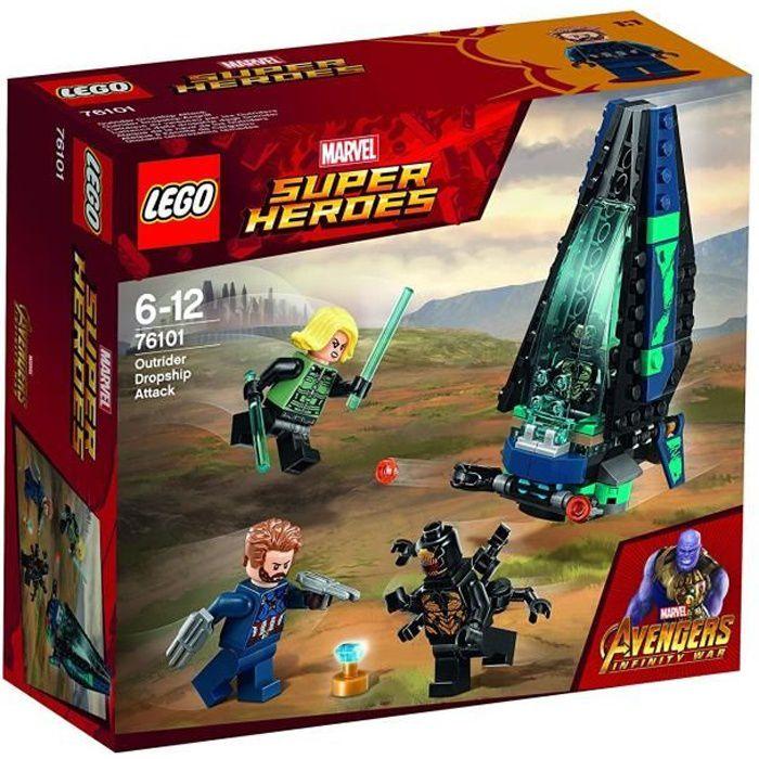 LEGO® Marvel Super Heroes 76101 L'attaque du vaisseau par les Outriders