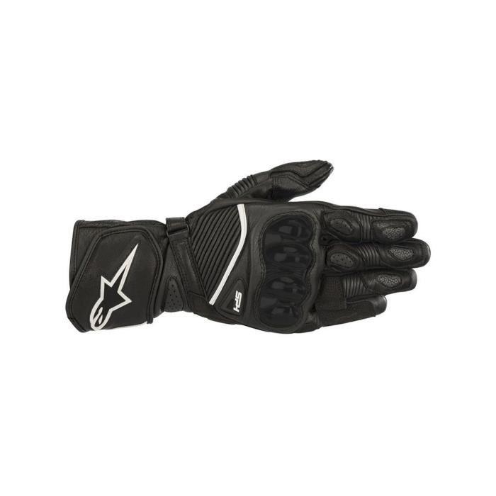 Gants de moto en cuir Alpinestars SP-1 v2 Noir