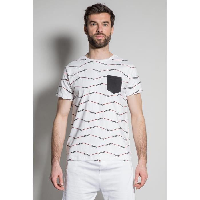 DEELUXE T-shirt imprimé géométrique KEEPER White