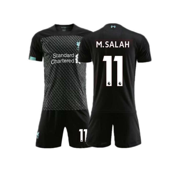 Gris foncé S nouveau maillot de football 11 Salah 10 Mane maillot de football Liverpool ensemble parent-enfant maillot de fo