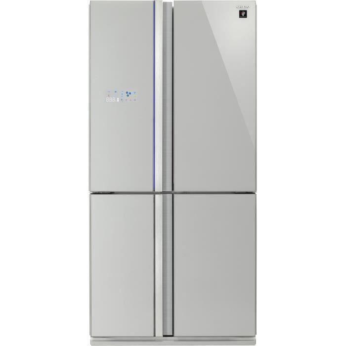 SHARP - SJ-FS810VSL - Réfrigérateur Multi-portes - 600L (393L+207L) - Froid ventilé No Frost - L89,2cm x H183cm - Silver