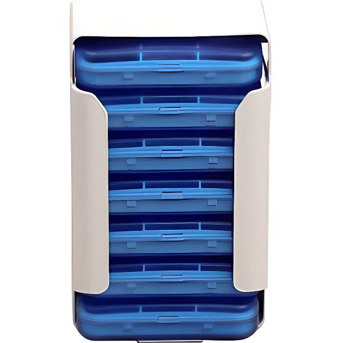 Boîte à Pilules Pilulier Semainier 7 Jours 42 Compartiments Voyage Portable Distributeur Médicament Rangement Tiroir Type
