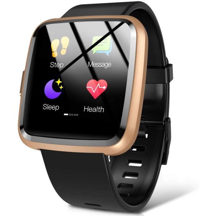 Montre Connectée Femme Homme Smartwatch Sport Etanche IP67 Bracelet Connecté Cardiofréquencemètre Podomètre Fitness Tracker d'Activi