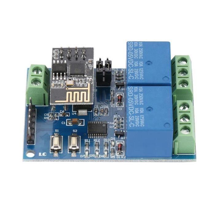 SNOWINSPRING 5V ESP8266 Double Relais WiFi IoT Smart Home Mobile APP Commutateur /à Distance