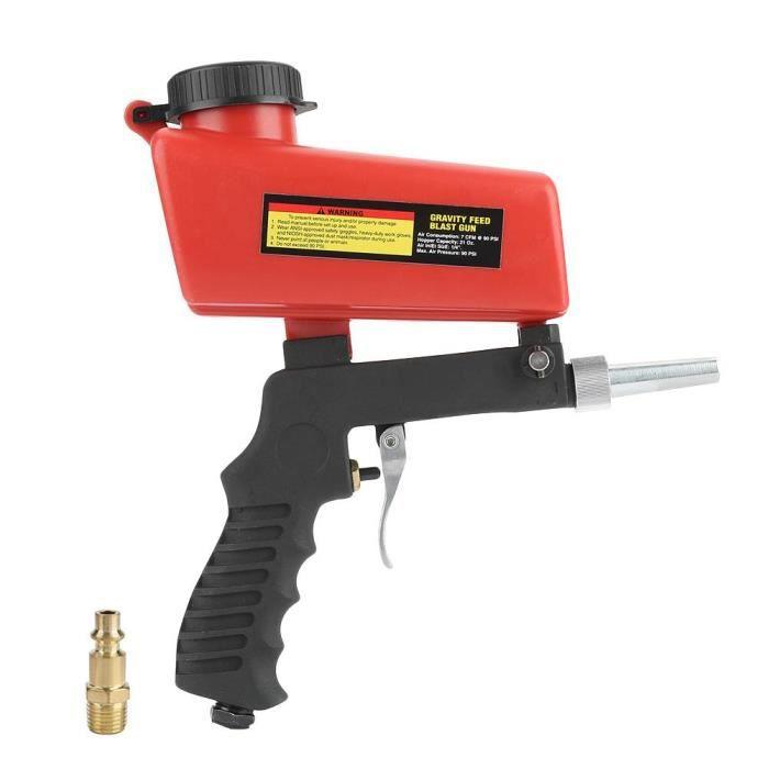 Pistolet De Sablage Pneumatique Avec Trémie Pistolet Pneumatique Compresseur D Air Kit Contre Peinture Antirouille Ponceuse Air Cwu