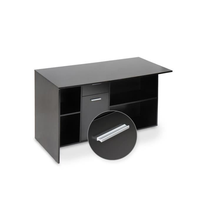 bureau d 39 angle noir achat vente bureau bureau d 39 angle noir soldes d t cdiscount. Black Bedroom Furniture Sets. Home Design Ideas
