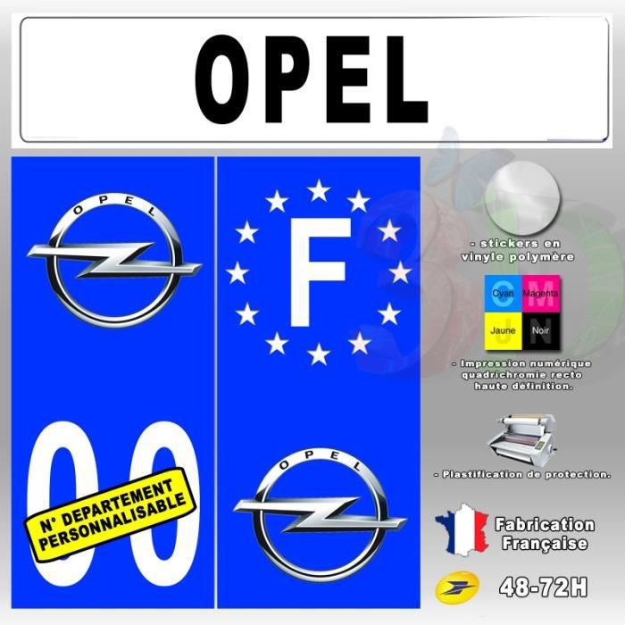 stickers plaque d 39 immatriculation 39 opel 39 auto moto 110x45 mm achat vente stickers cdiscount. Black Bedroom Furniture Sets. Home Design Ideas