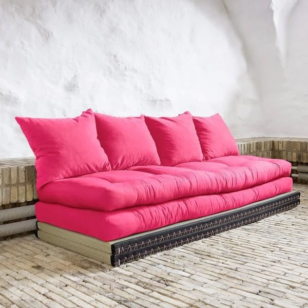 convertible nara 70 futons magenta tatamis 70 achat vente canap sofa divan cdiscount. Black Bedroom Furniture Sets. Home Design Ideas