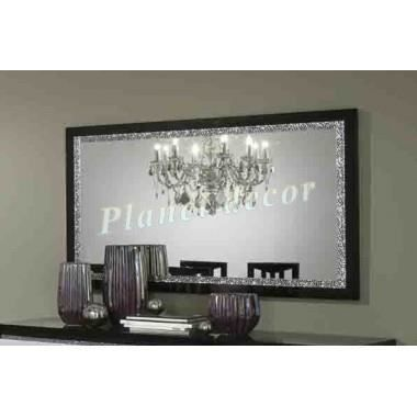 miroir cromo laque bicolore 180 cm achat vente miroir. Black Bedroom Furniture Sets. Home Design Ideas