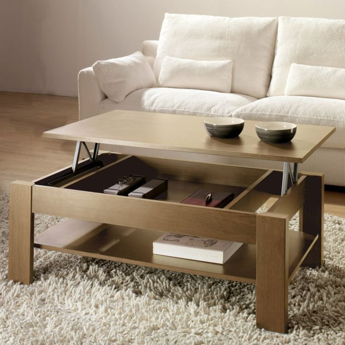table basse relevable rosilia coloris noyer achat. Black Bedroom Furniture Sets. Home Design Ideas