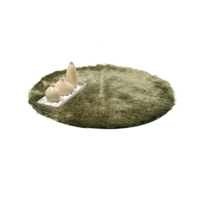 benuta tapis poils longs whisper vert 80 cm rond achat vente tapis cdiscount. Black Bedroom Furniture Sets. Home Design Ideas