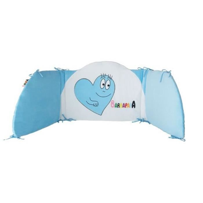 barbapapa tour de lit 40 x 180 cm bleu gar on bleu et. Black Bedroom Furniture Sets. Home Design Ideas
