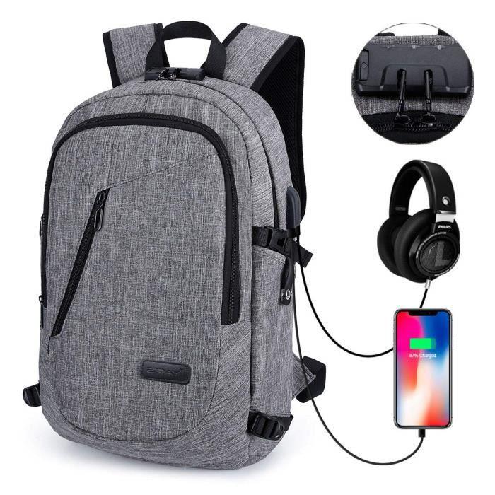 """Sac à dos avec Ordinateur Portable /& Tablette compartiments pour MacBook Pro 13/"""" 2017 us Gris"""