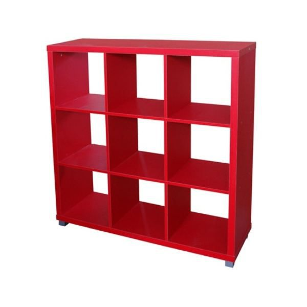 meuble 9 cases rouge achat vente petit meuble rangement meuble 9 cases rouge cdiscount. Black Bedroom Furniture Sets. Home Design Ideas