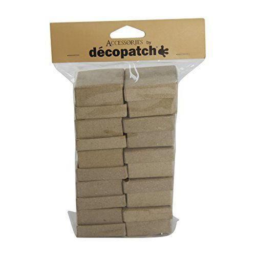 Support à décorer Decopatch Mache Lot de boites carrées, 10, Marron