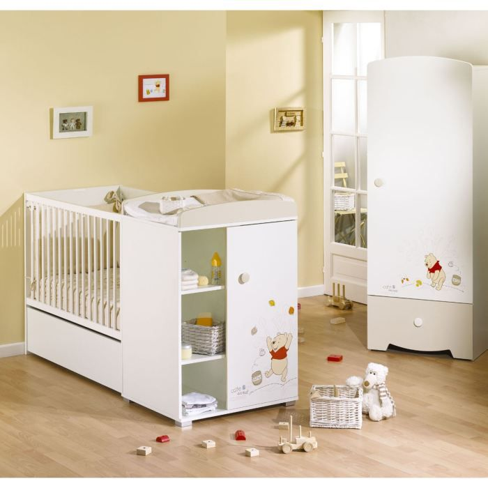 winnie lit combin evolutif b b doodle craft achat vente armoire 3500760047125 soldes. Black Bedroom Furniture Sets. Home Design Ideas
