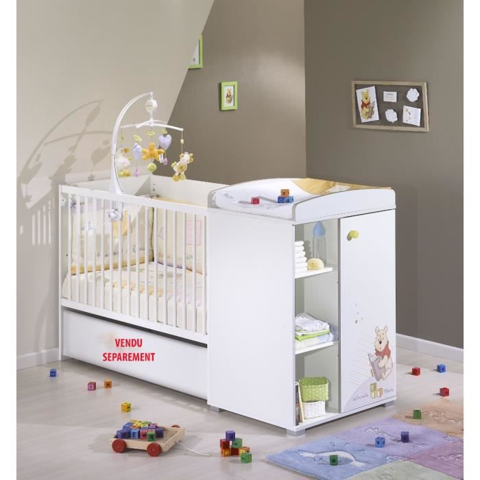Winnie L 39 Ourson Lit B B Transformable 120 X 60 Blanc Achat Vente Lit B B Winnie L 39 Ourson