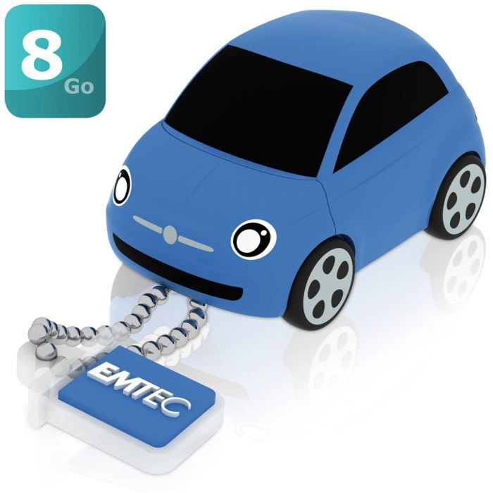 emtec cl usb fiat 500 bleu 8 go achat vente cl usb. Black Bedroom Furniture Sets. Home Design Ideas