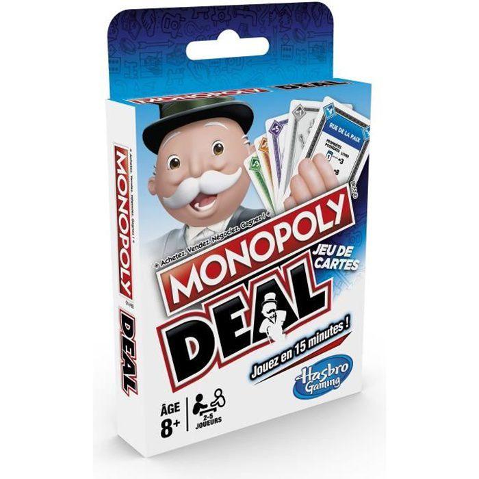 JEU SOCIÉTÉ - PLATEAU MONOPOLY - Deal - Jeu de Voyage, version française