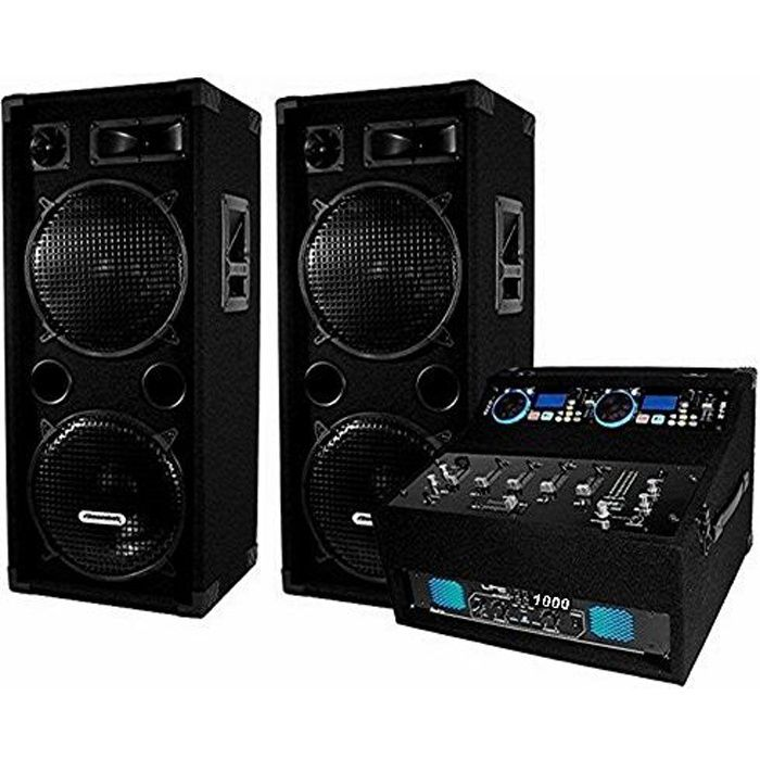 pack de sonorisation 1000 w avec enceintes dj 920 pack. Black Bedroom Furniture Sets. Home Design Ideas