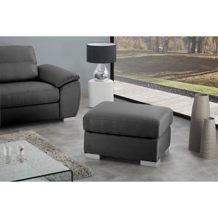 geneva dolce pouf en tissu gris anthracite achat vente pouf poire structure panneaux. Black Bedroom Furniture Sets. Home Design Ideas