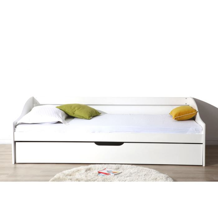 miliboo lit banquette enfant tiroir 90x190 achat. Black Bedroom Furniture Sets. Home Design Ideas