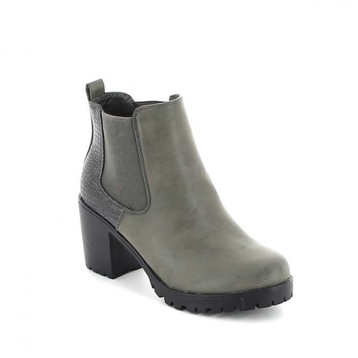 Gris bottine Vente crantée Achat Gris boots Chelsea vN0Owmn8