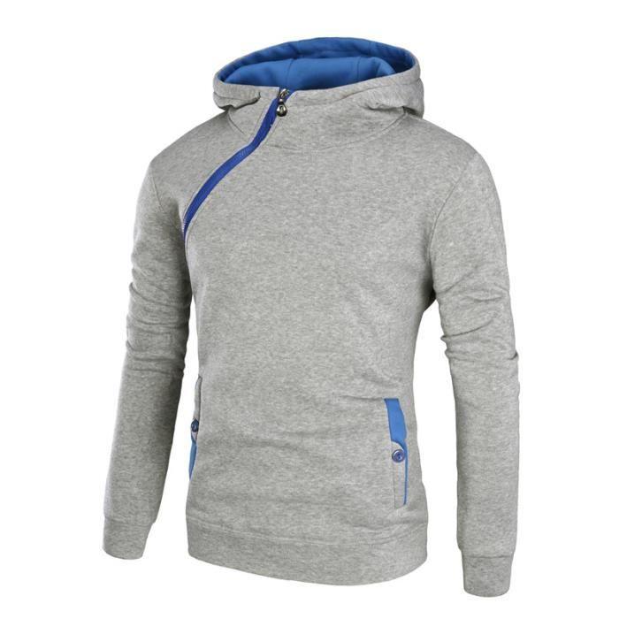 Sweat à capuche Homme sport UNI D'automne Mode Casual Vêtement Masculin Épaississant