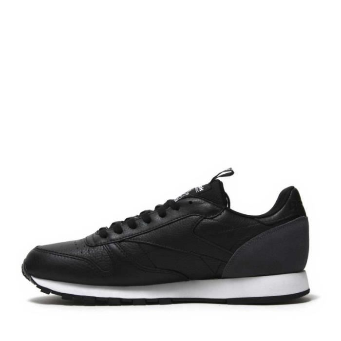 66e0e0ed5dfd4 Basket Reebok Classic Leather IT- Ref. BS6210 Noir Noir - Achat ...
