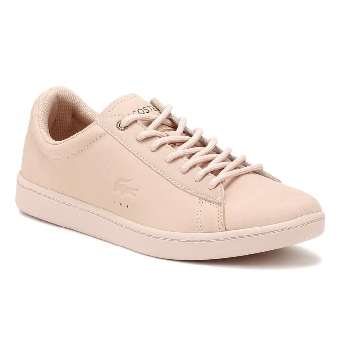 Lacoste Femme Lacoste Rose Pink Baskets Basses Chaussures