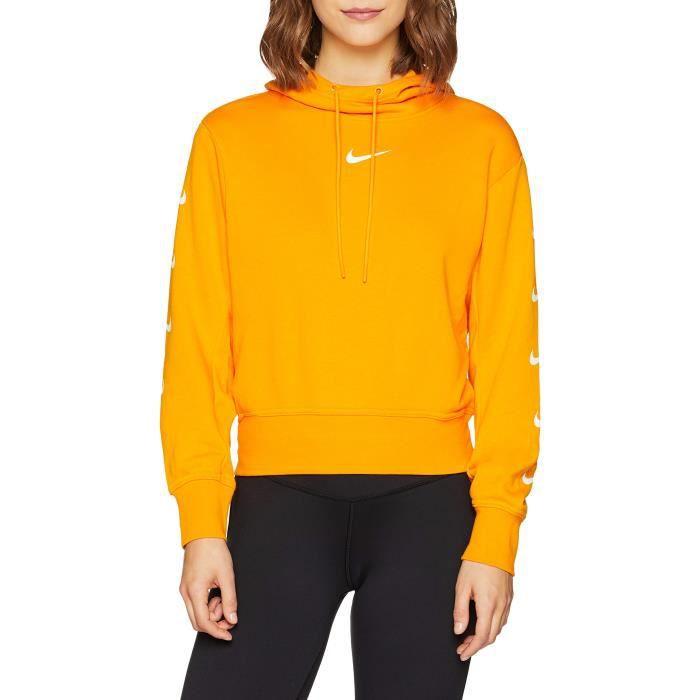 Nike Les femmes Swoosh à capuche 3D7ZAW Taille-32 Orange ...