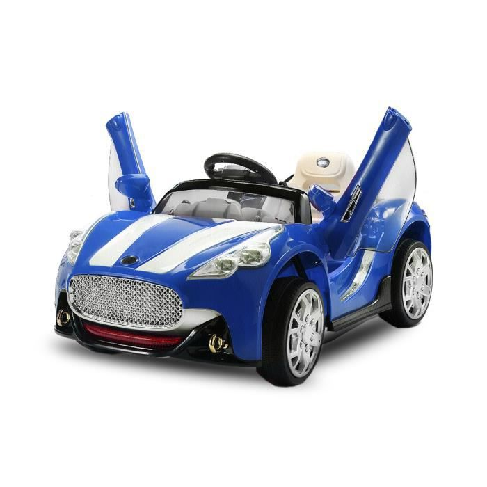 voiture lectrique enfant aston m coupe 2x 30w bleue achat vente voiture enfant cdiscount. Black Bedroom Furniture Sets. Home Design Ideas