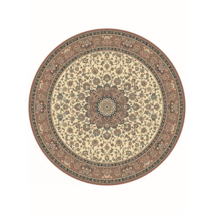 tapis de rond s kazbah rond 4 beige 200x200 en achat. Black Bedroom Furniture Sets. Home Design Ideas