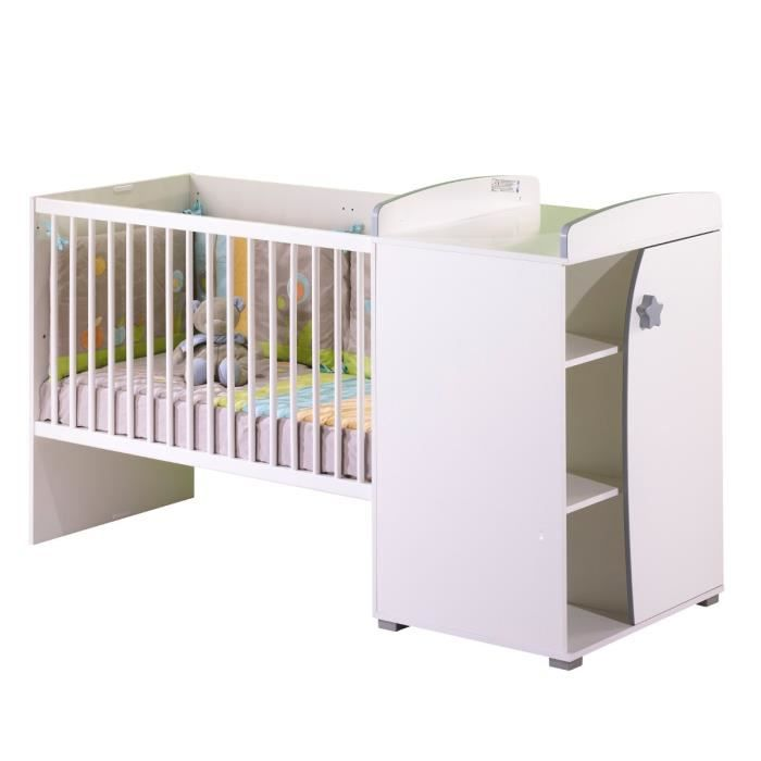 Sauthon on line lit b b transformable gris achat for Autour de bebe portet
