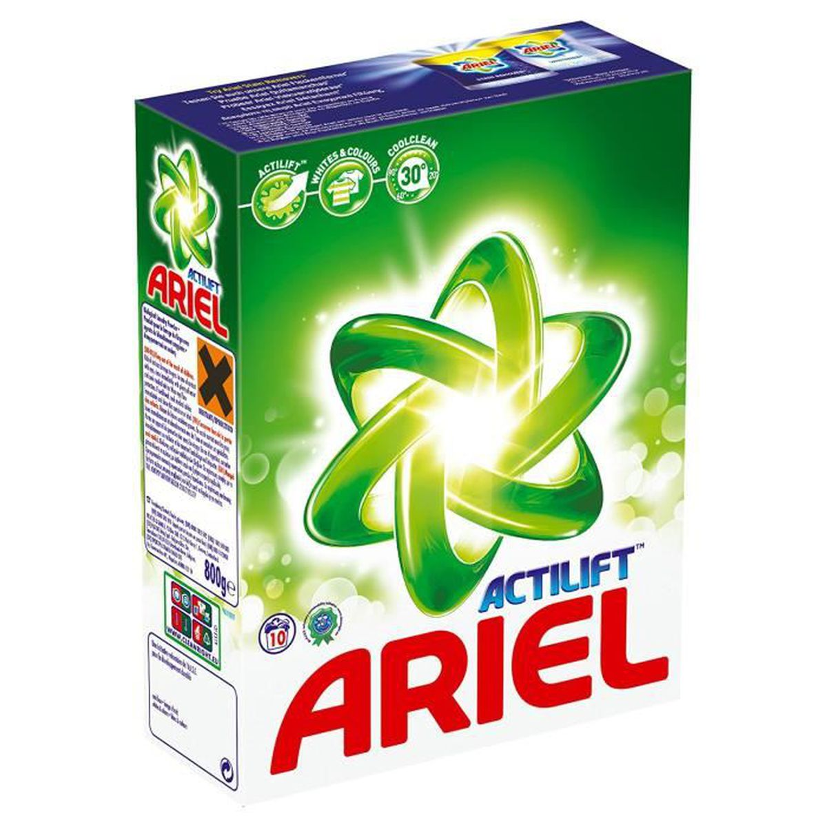 ariel lessive en poudre r gulier 10 doses 650 g lot de 2 achat vente lessive ariel. Black Bedroom Furniture Sets. Home Design Ideas