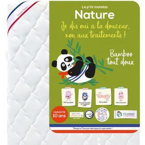 MATELAS BÉBÉ P'TIT ALBATROS Matelas Bamboo Nature - Bébé mixte