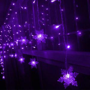 GUIRLANDE D'EXTÉRIEUR 3.5 m flocon de neige LED guirlandes de rideau de