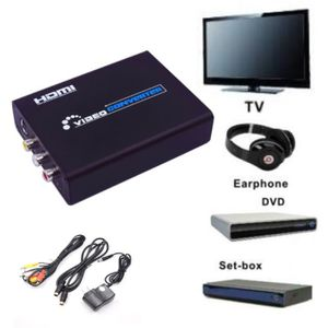 AUTRE PERIPHERIQUE USB  Video To HD AV S-VIDEO To HDMI Video Converter RCA