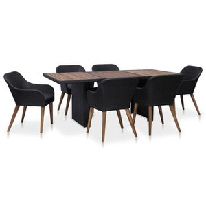 Ensemble table et chaise de jardin Festnight Mobilier de jardin exterieur 7 pcs table