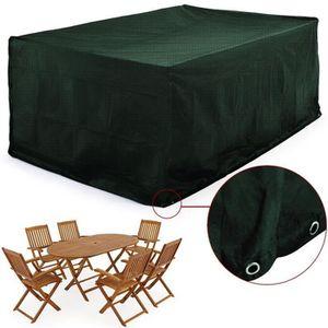 HOUSSE MEUBLE JARDIN  Housse de protection table rectangulaire de jardin