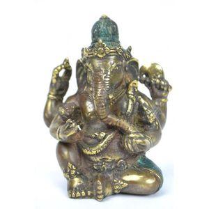 STATUE - STATUETTE Statuette Ganesh en bronze massif. Déco asiatique