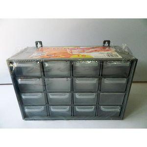 BAC DE RANGEMENT OUTILS Casier de rangement 16 tiroirs Boite vis clous 27c