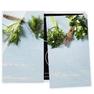 PLAQUE INDUCTION Couvre plaque de cuisson - Bundled Herbs - 52x60cm