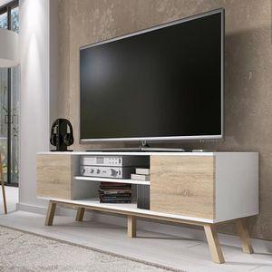 MEUBLE TV Meuble TV / Meuble salon - VERO BOIS - 150 cm - bl
