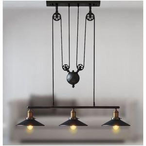 LUSTRE ET SUSPENSION Lustre Suspension Vintage Industrielle 3 Luminaire