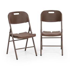 SALON DE JARDIN  Blumfeldt Burgos Seat Lot de 2 Chaises de jardin p