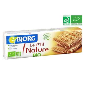 BISCUITS SECS BJORG Biscuits P'tit Nature Bio 200g