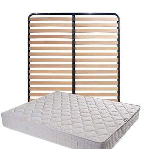 MATELAS Matelas Tissu Ignifuge 160x200 + Sommier Démonté +