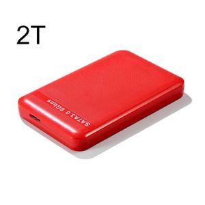 DISQUE DUR EXTERNE Disque dur portable USB3.0 haute vitesse - Rouge -
