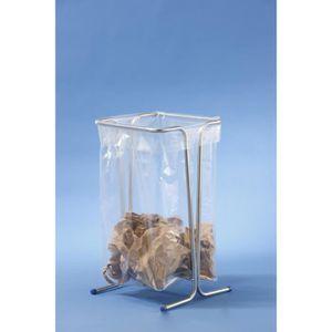 POUBELLE - CORBEILLE Support sac poubelle fixe 100-110 litres  -zingué